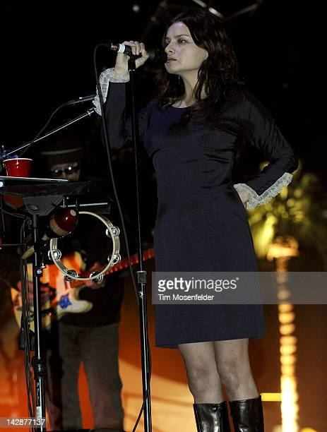 Hope Sandoval of Mazzy Star performs as part of Day 1 of the 2012 Coachella Valley Music Arts Festival at the Empire Polo Fields on April 13 2012 in...