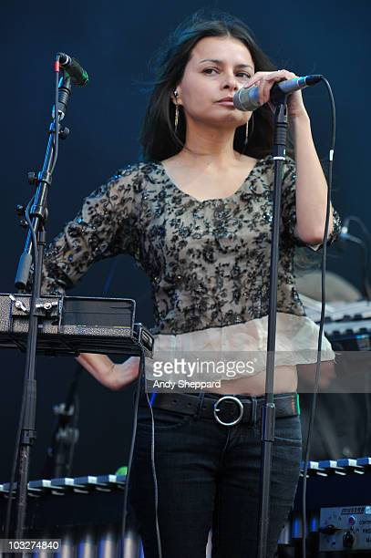 Hope Sandoval performs on stage during the second day of The Big Chill Festival 2010 at Eastnor Castle Deer Park on August 6 2010 in Ledbury United...
