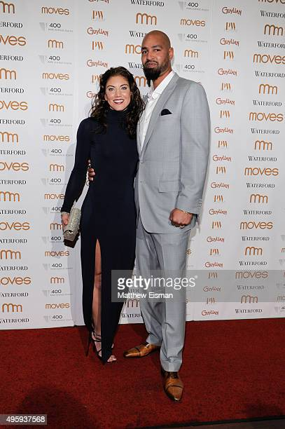 Hope Solo and Jerramy Stevens attend Moves 2015 Power Women Awards Gala at India House Club on November 5, 2015 in New York City.