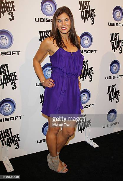 Hope Solo arrives at Ubisoft's Just Dance 3 launch party held at The Beverly on October 4 2011 in Los Angeles California