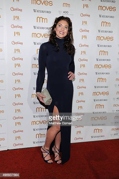 Hope Solo attends Moves 2015 Power Women Awards Gala at India House Club on November 5, 2015 in New York City.