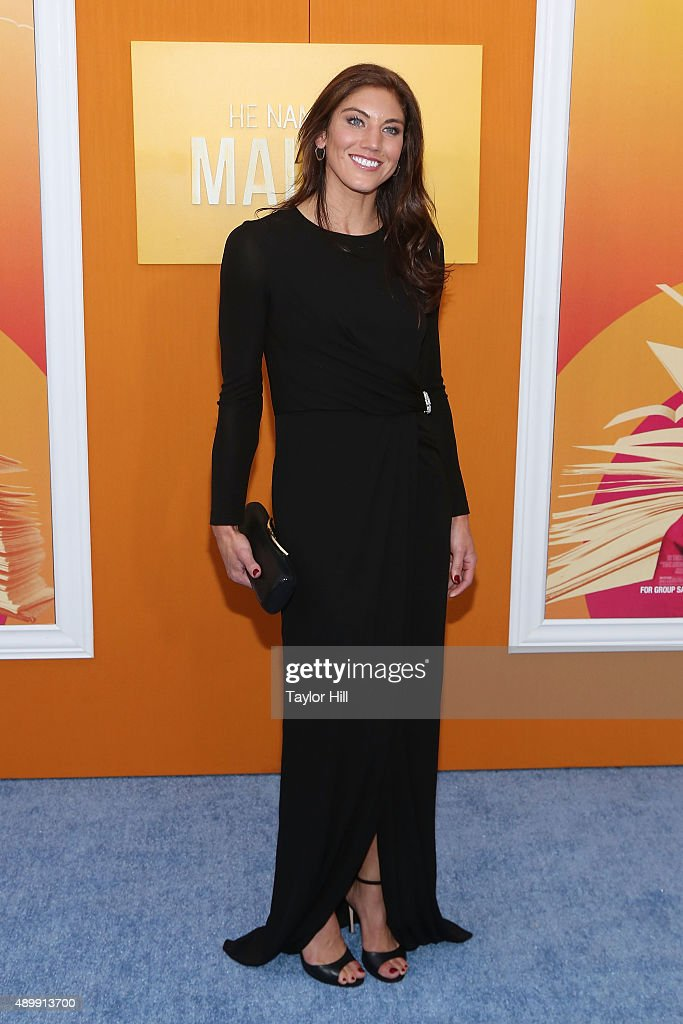 Hope Solo attends the 'He Named Me Malala' premiere at Ziegfeld Theater on September 24, 2015 in New York City.