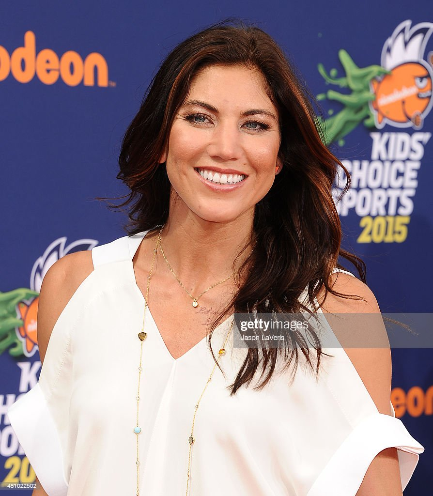 Hope Solo attends the Nickelodeon Kids' Choice Sports Awards at UCLA's Pauley Pavilion on July 16, 2015 in Westwood, California.