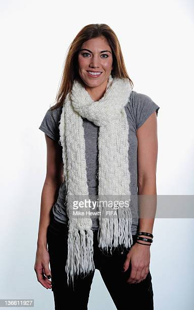 Hope Solo of the USA poses for a portrait prior to the FIFA Ballon d'Or Gala 2011 at the Kongresshaus on January 09 2012 in Zurich Switzerland