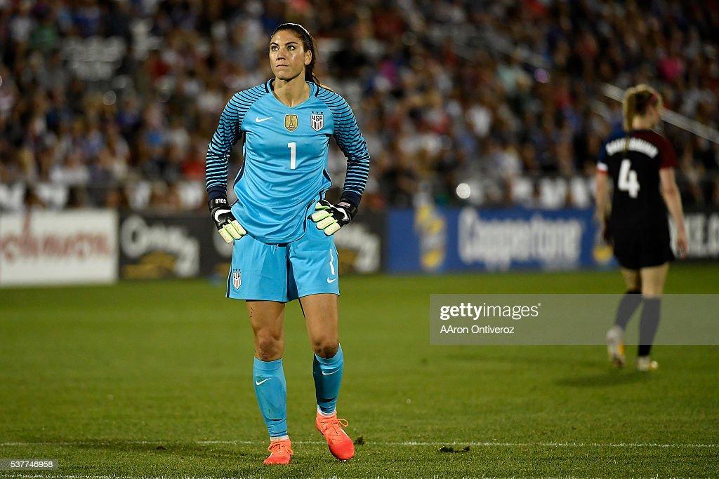 The U.S. Women's National team played Japan in an international friendly : News Photo