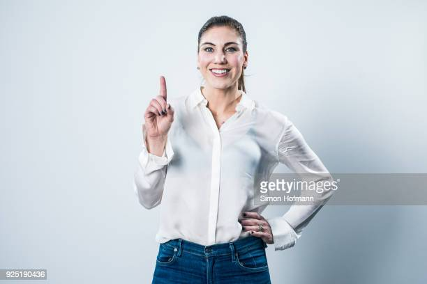 Hope Solo poses prior to the 2018 Laureus World Sports Awards at Le Meridien Beach Plaza Hotel on February 26, 2018 in Monaco, Monaco.