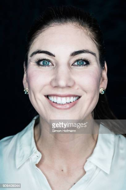 Hope Solo poses prior to the 2018 Laureus World Sports Awards at Le Meridien Beach Plaza Hotel on February 26 2018 in Monaco Monaco