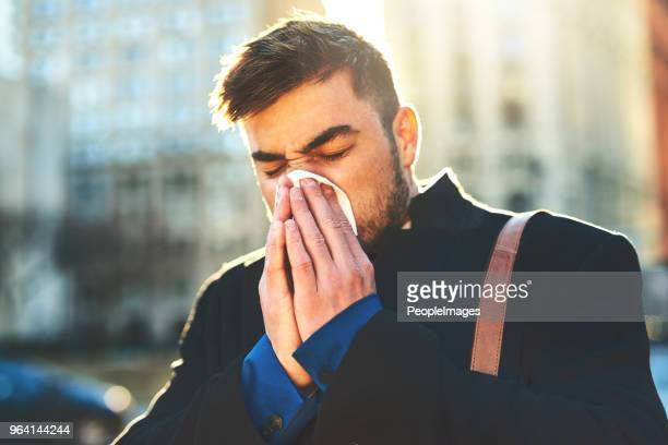 i hope this cold won't stop me from working - infectious disease stock pictures, royalty-free photos & images