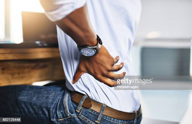 hope this pain isn't going to bother me too much - personal injury stock photos and pictures