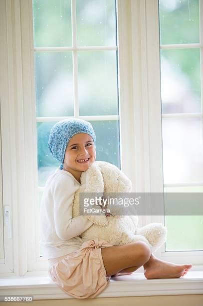 Zuversichtlich Mädchen mit Krebs