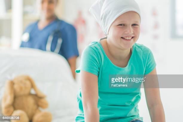 Hopeful Girl with Leukemia