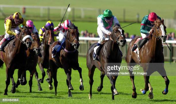 Hopeful Light ridden by Jimmy Fortune wins The Unicoin Homes Joel Stakes from On The Ridge at Newmarket Races