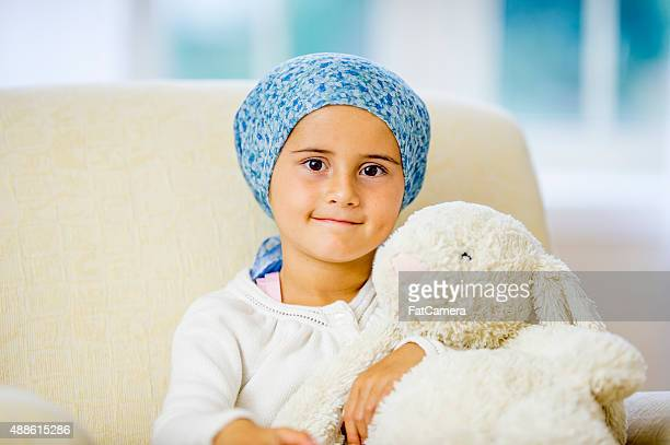 Hopeful Little Girl with Cancer