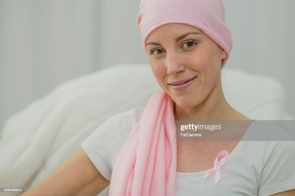 Hopeful Woman Battling Breast Cancer : Stock Photo