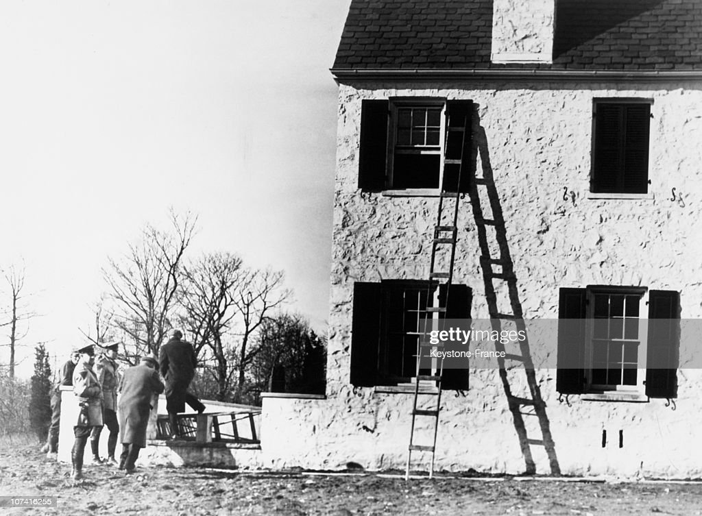 Hopewell, Colonel Lindbergh S House After The Kidnapping Of His Son In New Jersey On March 11Th 1932 : Nachrichtenfoto