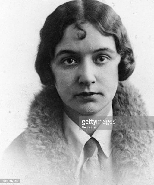 This is a new and heretofore unpublished picture of Betty Gow the nurse of the kidnapped Lindbergh baby Henry 'Red' Johnson her sailor suitor is...