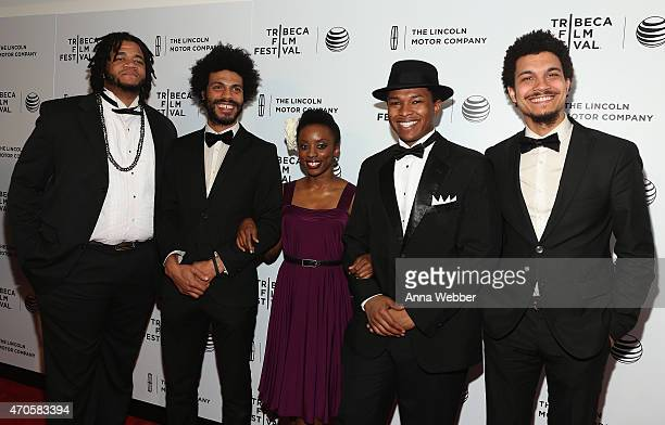 Hopkins Biggish Band members including Wayne Tucker Tanisha Anthony and Solomon Hicks attended The Lincoln Motor Company and Tribeca Film Festival...