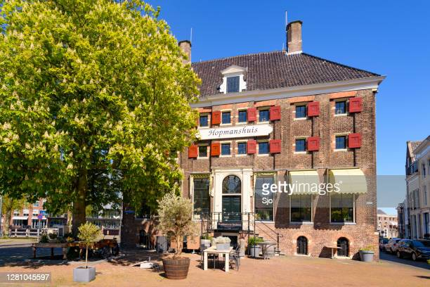 "hopmanshuis 17th century warehouse in the city of zwolle - ""sjoerd van der wal"" or ""sjo"" stock pictures, royalty-free photos & images"
