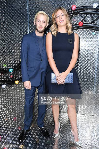 Hopper Jack Penn and Uma von Wittkamp attend the Dior Homme Menswear Spring/Summer 2017 show as part of Paris Fashion Week on June 25 2016 in Paris...