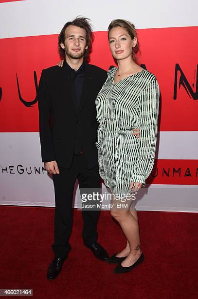 Hopper Penn and Uma Von Wittkamp attend the premiere of Open Road Films' The Gunman at Regal Cinemas LA Live on March 12 2015 in Los Angeles...