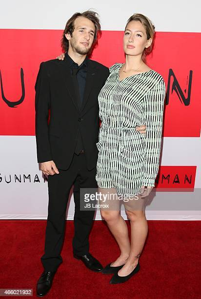 Hopper Penn and Uma Von Wittkamp attend the premiere of Open Road Films' 'The Gunman' at Regal Cinemas LA Live on March 12 2015 in Los Angeles...