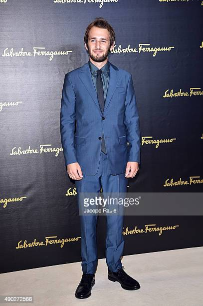 Hopper Penn attends the Salvatore Ferragamo show during the Milan Fashion Week Spring/Summer 2016 on September 27 2015 in Milan Italy