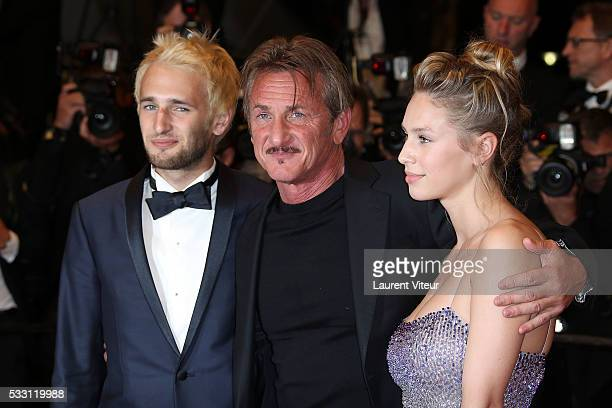 Hopper Penn Director Sean Penn and Dylan Penn attend 'The Last Face' Premiere during the 69th annual Cannes Film Festival at the Palais des Festivals...