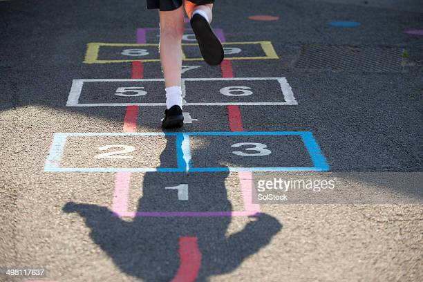 hopscotch - hopscotch stock pictures, royalty-free photos & images
