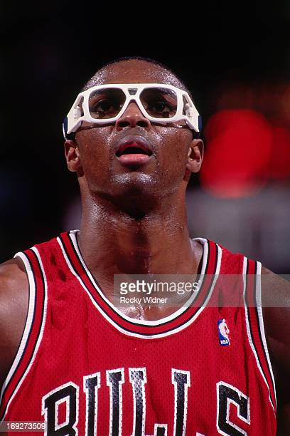 Horace Grant of the Chicago Bulls shoots a foul shot against the Sacramento Kings on November 30 1991 at Arco Arena in Sacramento California The...