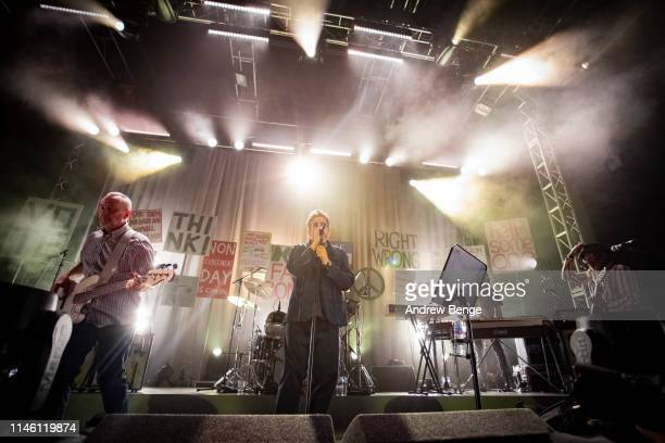 Horace Panter Terry Hall and Lynval Golding of The Specials perform on stage at O2 Academy Leeds on April 30 2019 in Leeds England