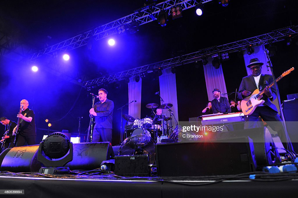 Horace Panter, Terry Hall, John Bradbury and Lynval Golding of The Specials perform on stage during Kew The Music at Kew Gardens on July 12, 2015 in London, England.