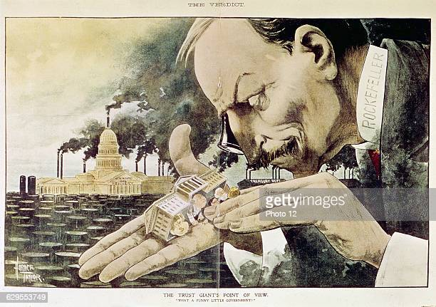 Horace TaylorAmerican schoolBanker Rockefeller Satirical cartoon when the verdict of the antitrust trial was announced 'The point of view of the...