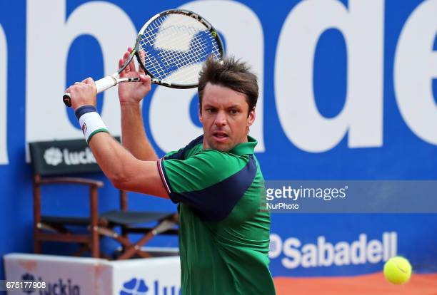 Horacio Ceballos during the match against Rafa Nadal corresponding to the Barcelona Open Banc Sabadell on April 29 2017