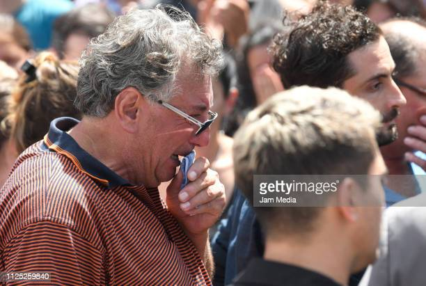 Horacio Sala father of Emiliano cries after a vigil at Sala's boyhood club San Martin de Progreso on February 16 2019 in Progreso Argentina 28yearold...