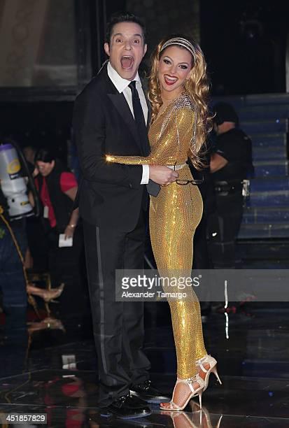Horacio Villalobos and Marjorie De Sousa participate in Univision's Mira Quien Baila Grand Finale at Univision Headquarters on November 24 2013 in...
