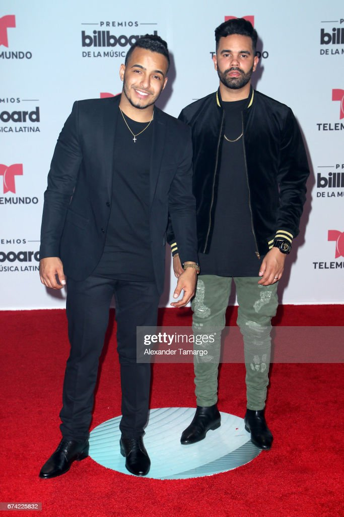 24 Horas attend the Billboard Latin Music Awards at Watsco Center on April 27, 2017 in Coral Gables, Florida.