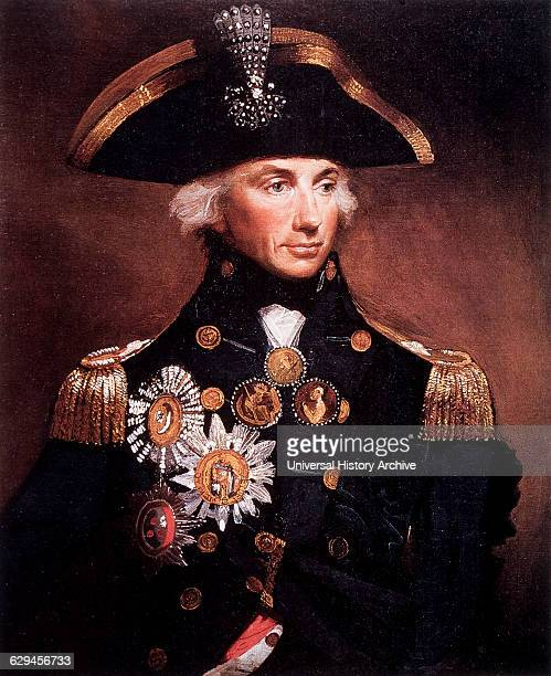 Horatio Nelson English Admiral Portrait By Lemuel Abbott Painting 1798