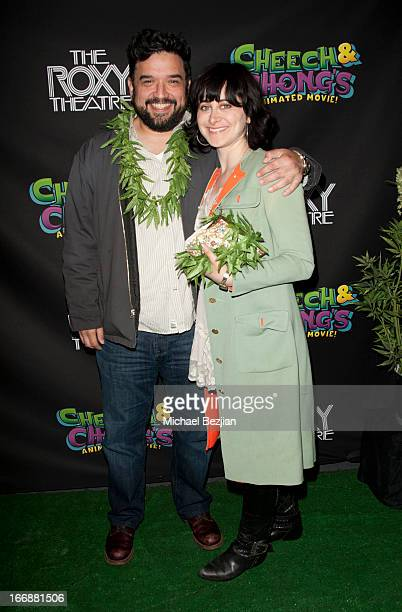 Horatio Sanz and Tommy Davidson attend Cheech And Chong's Animated Movie VIP Green Carpet Premiere at The Roxy Theatre on April 17 2013 in West...