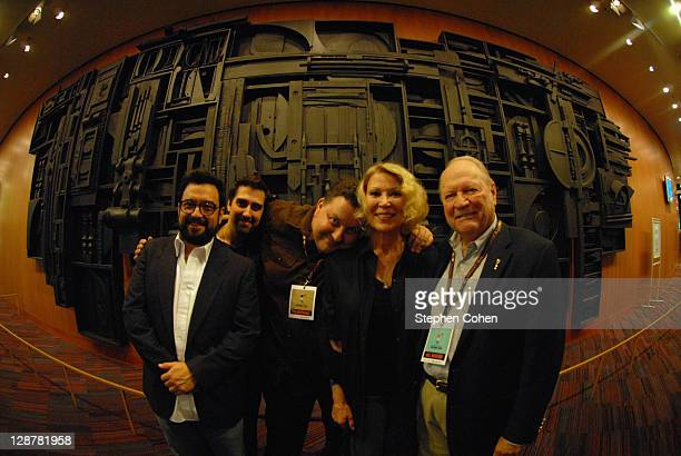 Horatio Sanz Matt Berman Leslie Easterbrook and Conrad Bachmann attend a screening of Hollywood Wine at the Bomhard Theater on October 7 2011 in...