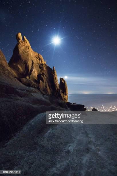 horca del inca ruins at night near copacabana, la paz department, bolivia, south america - alex saberi foto e immagini stock