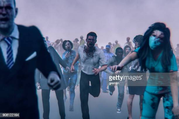 Hordes of angry walking dead zombies