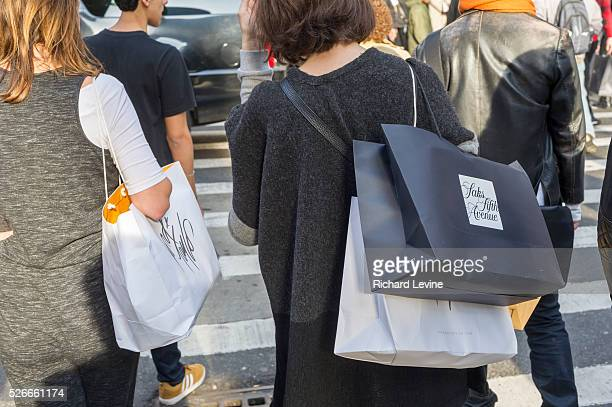 Hordes of shoppers in Midtown Manhattan in New York on Sunday, December 13, 2015. The streets of New York are filled with shoppers and tourists with...