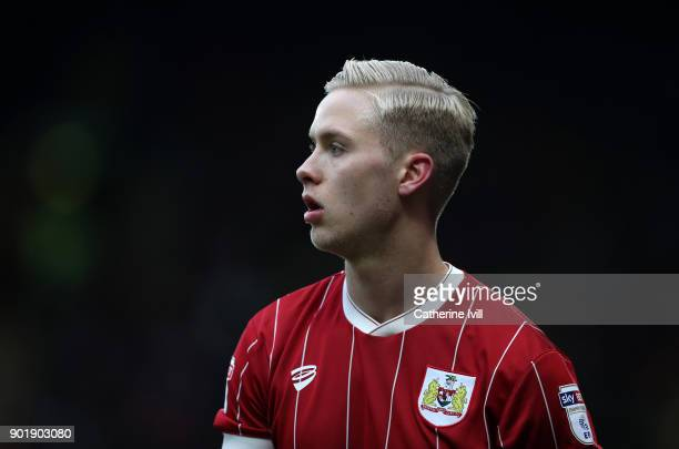 Hordur Bjorgvin Magnusson of Bristol City during the Emirates FA Cup Third Round match between Watford and Bristol City at Vicarage Road on January 6...