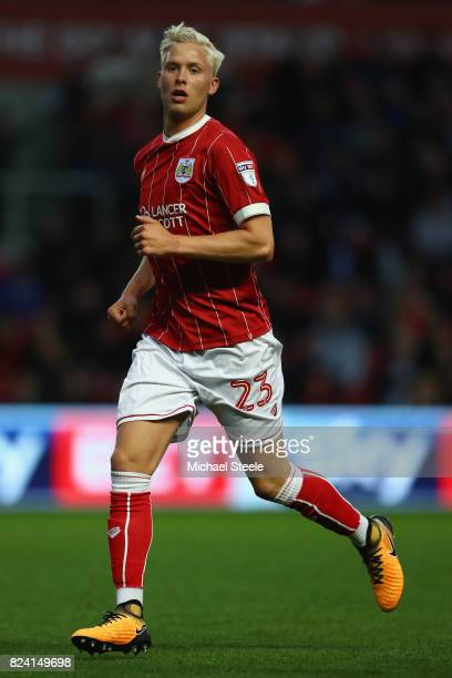 Hordur Magnusson of Bristol City during the pre season match between Bristol City and FC Twente at Ashton Gate on July 28 2017 in Bristol England