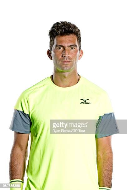Horia Tecau of Romania poses for portraits during the Australian Open at Melbourne Park on January 14 2018 in Melbourne Australia