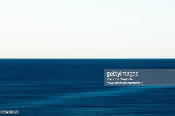 Horizon on the sea with panning effect