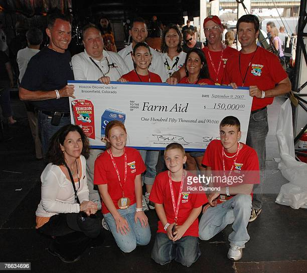 Horizon Organic Milk makes a check presentation to Farm Aid for $15000000 Backstage at Farm Aid 2007 AT ICAHN Stadium on Randall's Island NY...