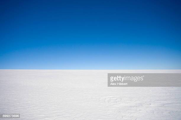 Horizon over land - Inland ice cap on a Polar expedition, Greenland