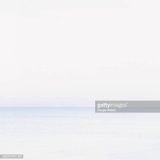 Horizon over ocean at dusk (high key)