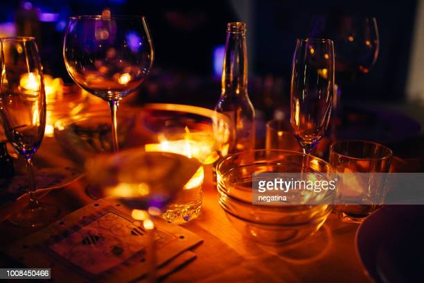 1 153 Romantic Candle Light Dinner Photos And Premium High Res Pictures Getty Images